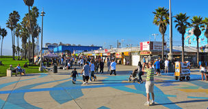 Venice Beach, United States. VENICE, US - OCTOBER 17: Ocean Front Walk of Venice Beach on October 17, 2011 in Venice, US. This boardwalk is 2.5 kilometer long royalty free stock images