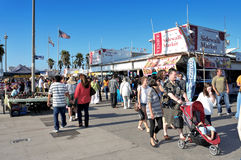Venice Beach, United States. VENICE, US - OCTOBER 17: Crowd in Ocean Front Walk of Venice Beach on October 17, 2011 in Venice, US. This boardwalk is 2.5 royalty free stock images