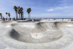 Venice Beack California Public Skate Board Park. Editorial view of the Venice Beach public skate board park in Los Angeles, California Royalty Free Stock Photography