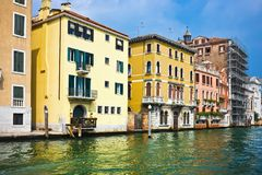 Venice. Beautiful view of famous Grand Canal in Venice, Italy Royalty Free Stock Photography