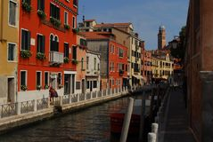 Venice. A beautiful view from one of Venice views Royalty Free Stock Photos