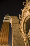 Venice - bell-tower and the column Royalty Free Stock Images
