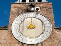 Venice - belltower clock Royalty Free Stock Photography