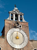 Venice - belltower clock Royalty Free Stock Images