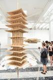 Venice Biennial 2017, Japanese Pavilion. Artwork installation of the 57th edition of the Venice Biennial in 2017. The Pavilion of Japan, artist: Takahiro Iwasaki Royalty Free Stock Photo