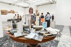 Venice Biennial 2017, Japanese Pavilion. Artwork installation of the 57th edition of the Venice Biennial in 2017. The Pavilion of Japan, artist: Takahiro Iwasaki Royalty Free Stock Photos