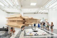 Venice Biennial 2017, Japanese Pavilion. Artwork installation of the 57th edition of the Venice Biennial in 2017. The Pavilion of Japan, artist: Takahiro Iwasaki Stock Images