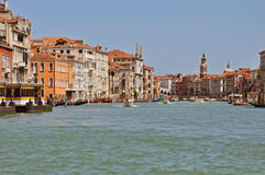 Venice. The big channel (Grand canal). Royalty Free Stock Image