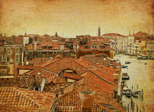 Venice bird's' eye panoramic view royalty free stock photography