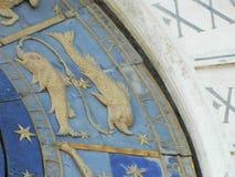 Venice blue zodiac clock details Royalty Free Stock Photo