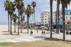 Venice Boardwalk Beach Bike Path Stock Photography