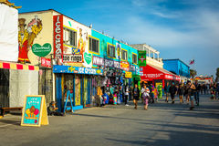 The Venice Boardwalk, in Venice Beach, Los Angeles  Royalty Free Stock Photography