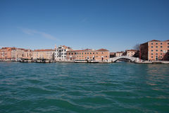 Venice from a Boat Stock Images