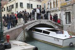 Venice boat taxi royalty free stock images