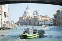 Venice boat traffic Royalty Free Stock Images