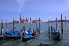 Venice boats. A photo shows the beautiful waterscape of Venice, photo taken in April,2008 stock image