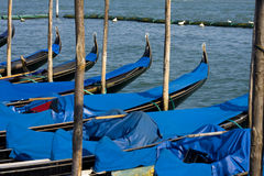 Venice boats in harbor Royalty Free Stock Photography
