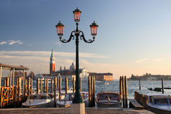 Venice with boats in  Italy Royalty Free Stock Photography