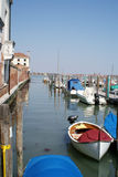 Venice, Boats At Moorings Stock Photography