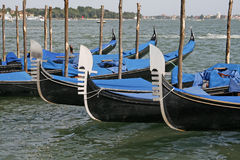 Venice, Boats before San Marco Stock Images