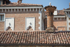 Venice brick roofs Royalty Free Stock Image