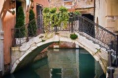 Venice bridge. Old bridge in Venice, Italy Stock Images