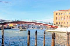 Venice Bridge. Entrance bridge of Venice, Italy Stock Photos