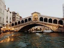 Venice. Bridge in  Venice, Italy Royalty Free Stock Images