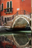 Venice bridge over canal Royalty Free Stock Image