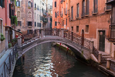Venice Bridge over Small Canal Royalty Free Stock Images