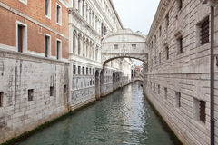 Venice. Bridge of sighs Royalty Free Stock Photo