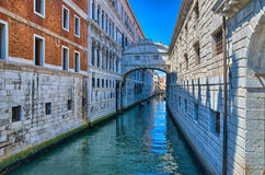 Venice - Bridge of Sighs, Ponte dei Sospiri, Italy, HDR Stock Photo