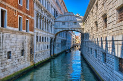 Venice - Bridge of Sighs, Ponte dei Sospiri, Italy, HDR Stock Image