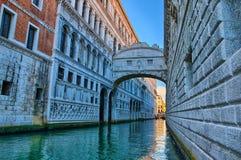 Venice - Bridge of Sighs, Ponte dei Sospiri, Italy, HDR Royalty Free Stock Photography