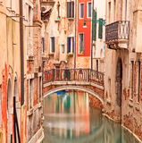 Venice, Bridge on water canal and traditional architecture Stock Images