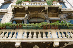 Venice building facade with old balkony Royalty Free Stock Image
