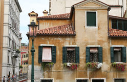 Venice building. Fragments palaces window Royalty Free Stock Photography