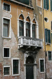 Venice building. Fragments palaces window Royalty Free Stock Images