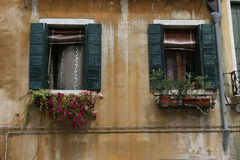 Venice building. Fragments palaces window Stock Images