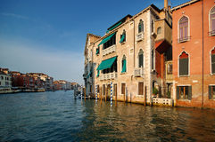 Venice Building at Sunset. Specific Venice Building on Grand Canal at the Sunset royalty free stock images