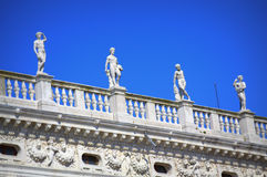 Venice building top statues Italy Royalty Free Stock Image
