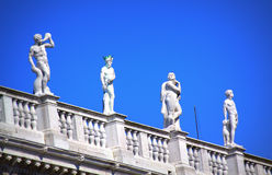 Venice building top statues Italy Royalty Free Stock Photos