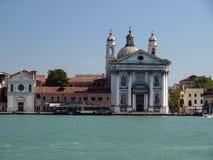 Venice. Buildings along Giudecca Canal Stock Images