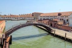 Venice - Buildings along the street Ponte della Liberta Royalty Free Stock Photo