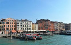 Venice buildings and boats royalty free stock images
