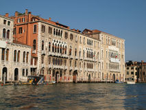 Venice - buildings at Canal Grande Royalty Free Stock Image