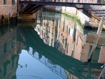 Venice Buildings Reflected in Canal Stock Photo