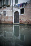 Venice builing Door Reflection Royalty Free Stock Images