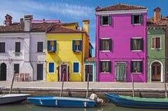 Venice, Burano island canal,Italy Stock Image