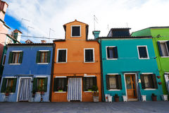 Venice, Burano island, colorful houses, Venezia, Italy Royalty Free Stock Photo